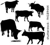 cow   Shutterstock .eps vector #94189444