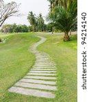walkway on green grassy in golf ... | Shutterstock . vector #94214140