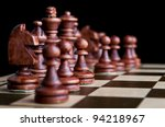 chess pieces isolated on a... | Shutterstock . vector #94218967
