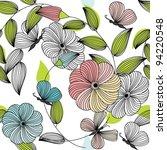 abstract flower seamless...   Shutterstock .eps vector #94220548