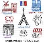 symbols of france in simple... | Shutterstock .eps vector #94227160