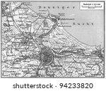 vintage map of danzig city... | Shutterstock . vector #94233820