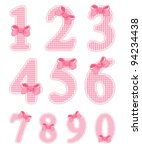 isolated baby girl numeral set | Shutterstock .eps vector #94234438
