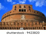 Saint Angelo Castle, Rome. Italy.Europe. Saint Angelo Castle against blue sky. - stock photo