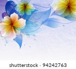 abstract blue background with... | Shutterstock .eps vector #94242763