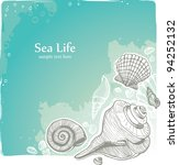 vector seashell illustration | Shutterstock .eps vector #94252132