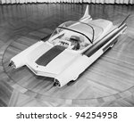 Futuristic Car, circa late 1950s-early 1960s - stock photo
