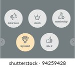 simple icons  news and clients  ... | Shutterstock .eps vector #94259428