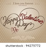'happy valentine's day' hand... | Shutterstock .eps vector #94275772