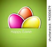 Vector Green Paper Easter Egg...