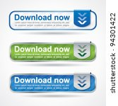 modern download button set with ... | Shutterstock .eps vector #94301422