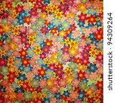 Stock photo grunge colorful flowers background pattern vintage style 94309264