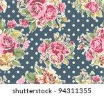 spring cute vintage rose...   Shutterstock .eps vector #94311355