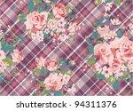spring cute vintage rose... | Shutterstock .eps vector #94311376