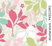seamless spring cute vintage... | Shutterstock .eps vector #94311391