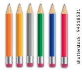 pencil vector illustration set. ...   Shutterstock .eps vector #94318531