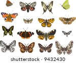 illustration with sixteen... | Shutterstock . vector #9432430
