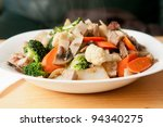 gluten free rice noodles with...