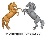 Stock vector horse 94341589