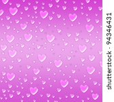 pink hearts like droplets over... | Shutterstock . vector #94346431