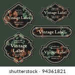 set of vintage labels | Shutterstock .eps vector #94361821