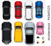 set of various isolated cars ... | Shutterstock . vector #94369225