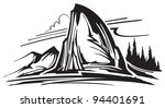 mountain landscape | Shutterstock .eps vector #94401691