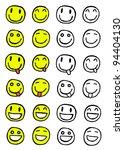 hand drawn set of smiles ... | Shutterstock .eps vector #94404130