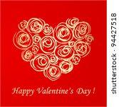 valentine's day card | Shutterstock .eps vector #94427518