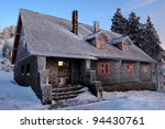 Mountain Cabin During Winter