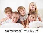 happy family with children in... | Shutterstock . vector #94443229