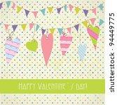 cute vintage valentine s card... | Shutterstock .eps vector #94449775