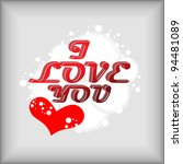abstract love you valentine's... | Shutterstock .eps vector #94481089