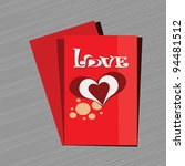 abstract love card with heart... | Shutterstock .eps vector #94481512