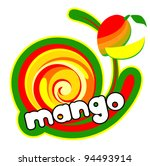 ice cream mango. background for ... | Shutterstock .eps vector #94493914