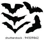 bats silhouette vector | Shutterstock .eps vector #94509862