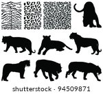Tiger Silhouettes And Skins...