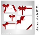set of blank white cards with... | Shutterstock .eps vector #94529791