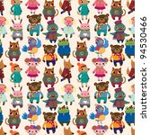 winter animal seamless pattern | Shutterstock .eps vector #94530466