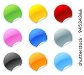 glossy button  | Shutterstock .eps vector #94534366