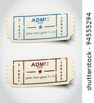 ticket admit one vector | Shutterstock .eps vector #94555294