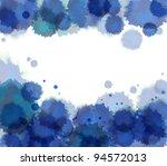 watercolor background. vector. | Shutterstock .eps vector #94572013