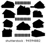 Stock vector silhouette house 94594882