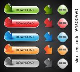 set of download buttons | Shutterstock .eps vector #94600960