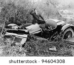 CAR WRECK - stock photo