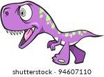 Crazy Insane Dinosaur T-Rex Vector Illustration Art - stock vector