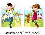 a vector illustration of a boy... | Shutterstock .eps vector #94629208