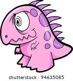 Crazy Insane Dinosaur Animal Vector Illustration Art - stock vector