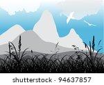 illustration with grass near... | Shutterstock .eps vector #94637857