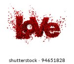 Stock photo high quality d render of rose petals forming love love from roses isolated in white it also 94651828